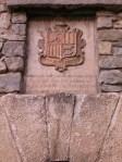 erb na budove starého sídla vlády v Andorre