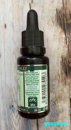 Bio argánový olej Nobili Tilia zloženie