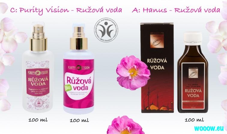 Ružová voda (hydrolát) Purity Vision, Hanus