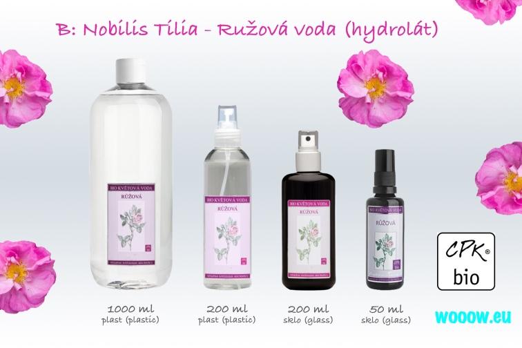 Ružová voda (hydroláty) Nobilis Tilia